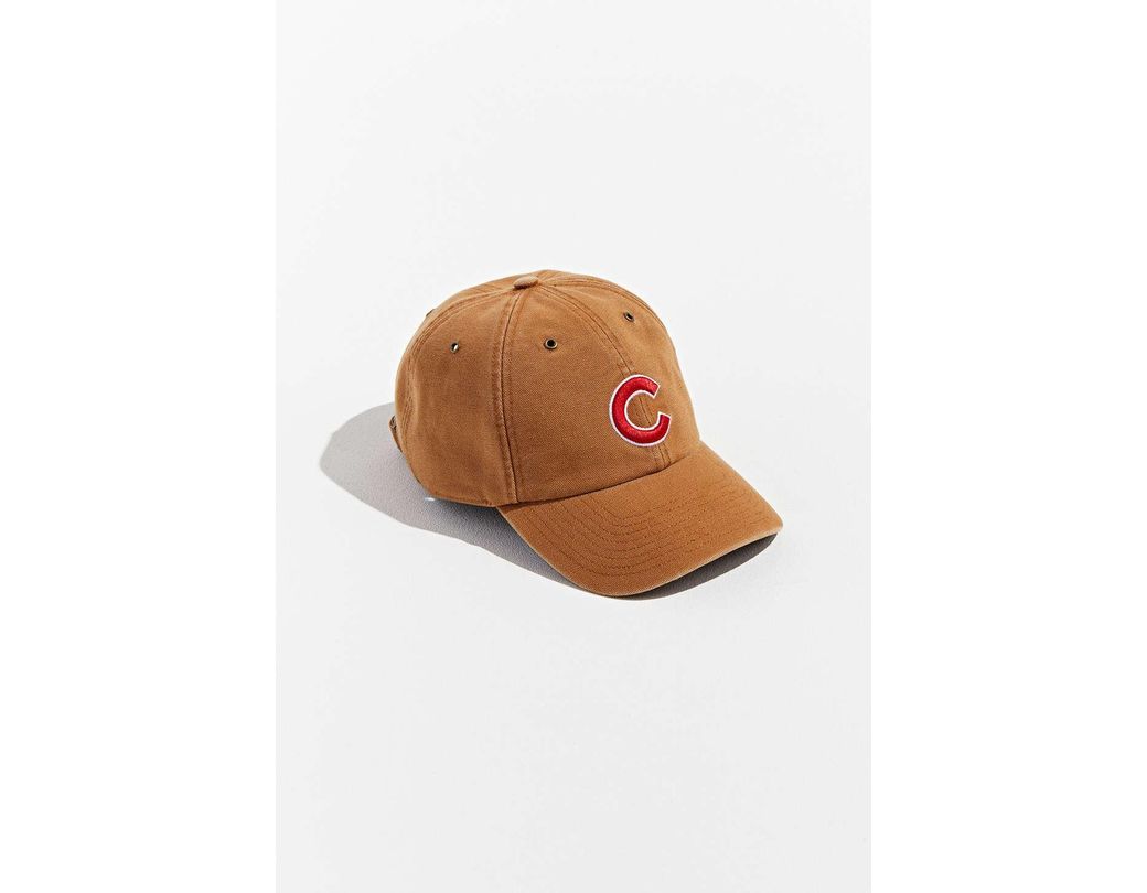 e10f9e799d2a9 Lyst - 47 Brand X Carhartt Chicago Cubs Dad Baseball Hat in Natural ...