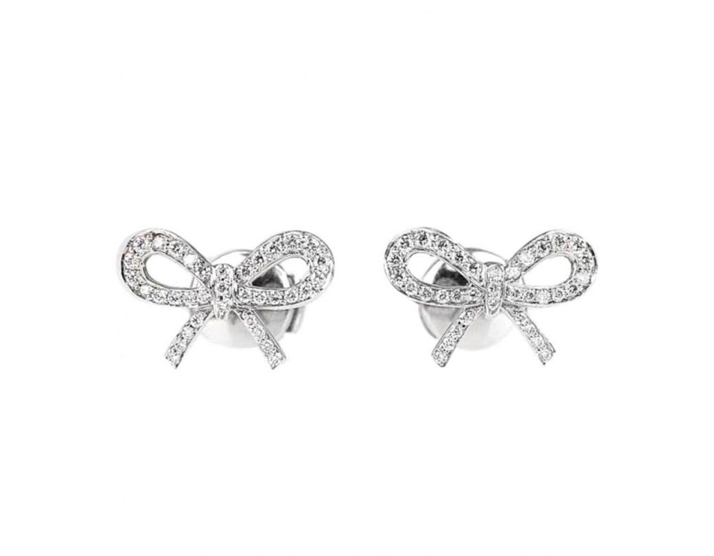 2cd38d4f4 Tiffany & Co. Platinum Earrings in Metallic - Lyst