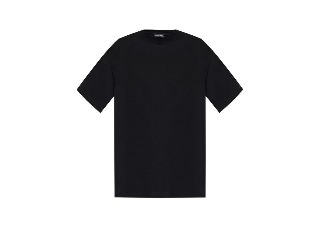 1dbb4a815e61 Balenciaga Round Neck T-shirt in Black for Men - Lyst