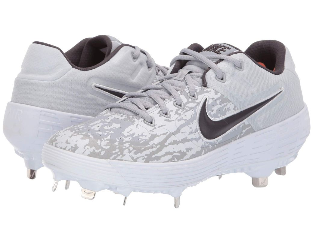aab63345a429 Nike. Gray Alpha Huarache Elite 2 Low (wolf Grey thunder Grey pure  Platinum) Men s Cleated Shoes