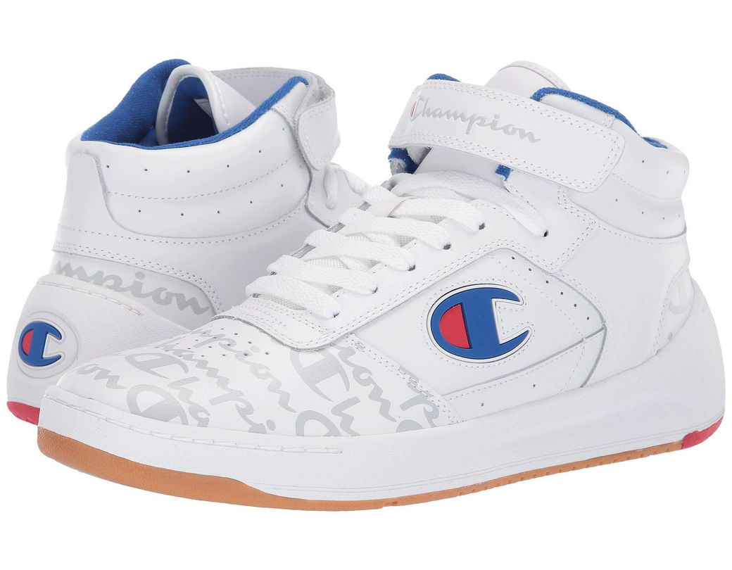 641a5118e48e1 Lyst - Champion Super C Court Leather Print (white) Men s Shoes in ...