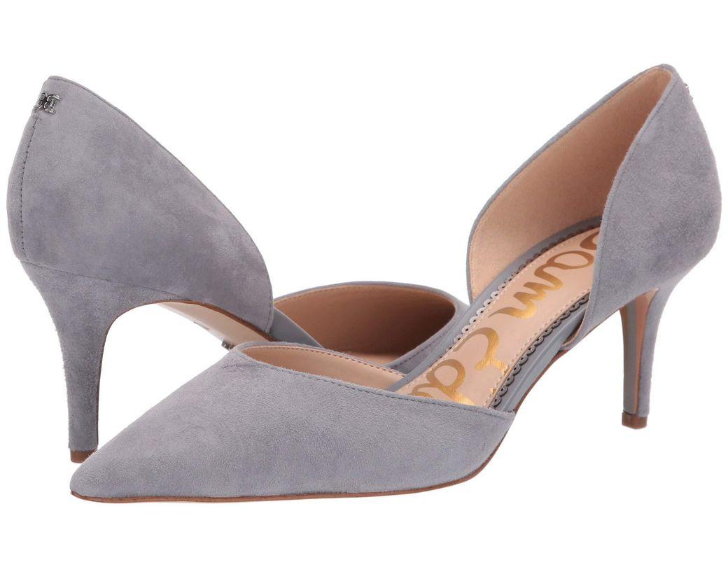 b247d4cf10ed Lyst - Sam Edelman Jaina (black Kid Suede Leather) Women s Shoes in Gray