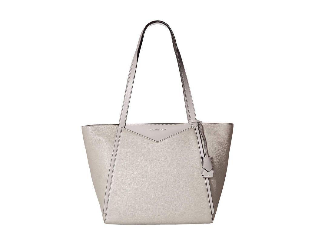17a3ea88594e MICHAEL Michael Kors. Women s Gray Whitney Large Top Zip Tote (black) Tote  Handbags