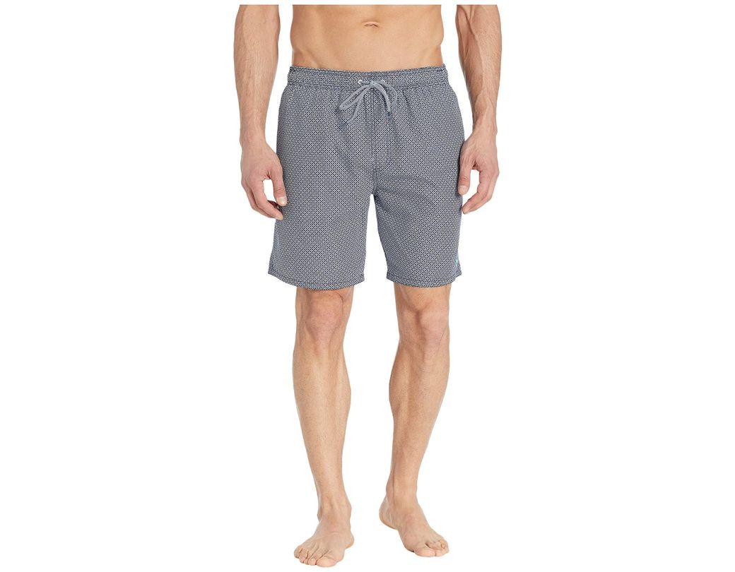 ad33b8e9f0 Ted Baker. Blue Alantic Geo Print Midi Swim Shorts (navy) Men's Swimwear