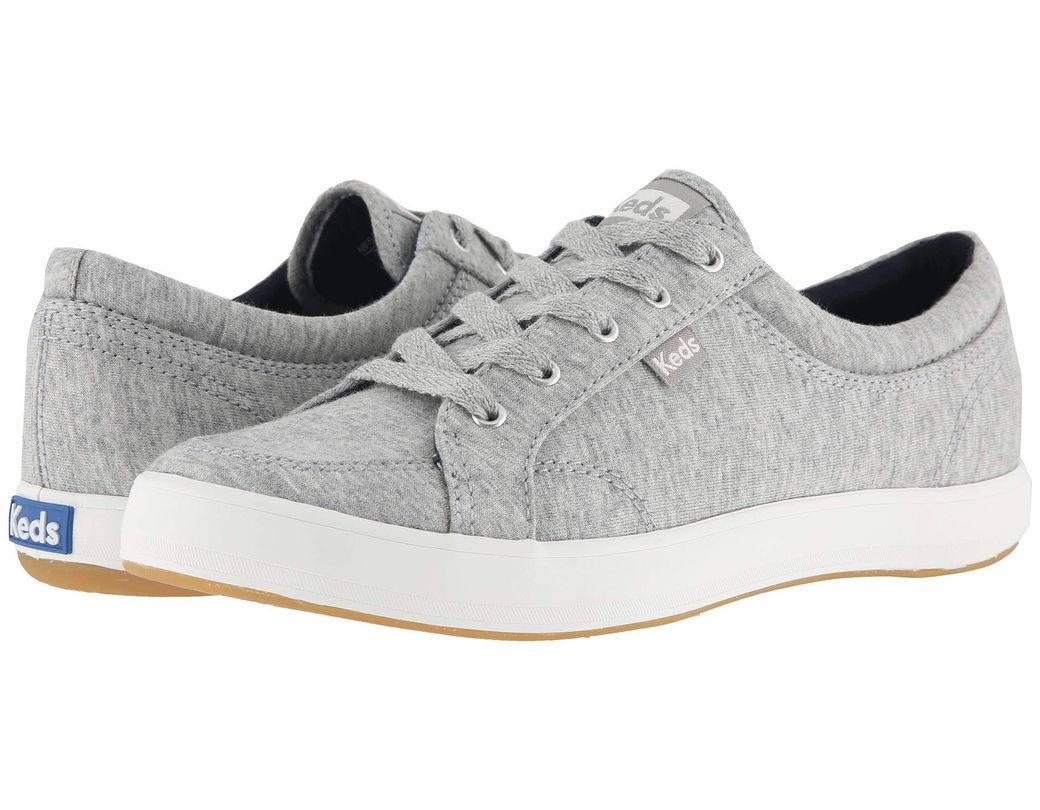 41952a4615631 Lyst - Keds Center Jersey (light Gray) Women s Lace Up Casual Shoes ...