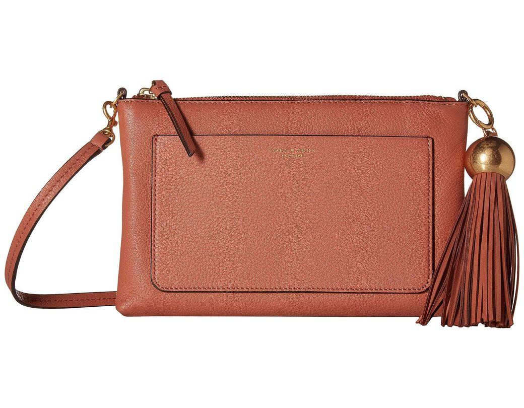 0c0a7c09a96a Lyst - Tory Burch Tassel Top Zip Mini Bag (tramonto) Cross Body ...