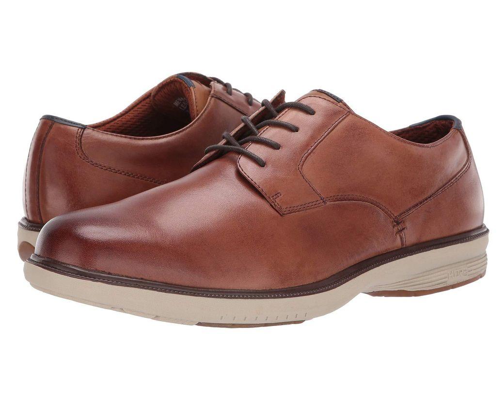 6cf8a6486 Nunn Bush Marvin Street Plain Toe Oxford With Kore Slip Resistant Walking  Comfort Technology in Natural for Men - Lyst