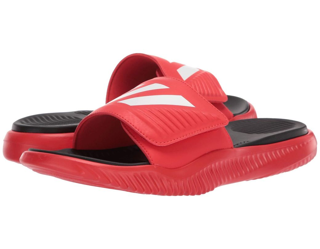 0faa67d79cf adidas. Alphabounce Basketball Slides (active Red footwear White core Black)  ...