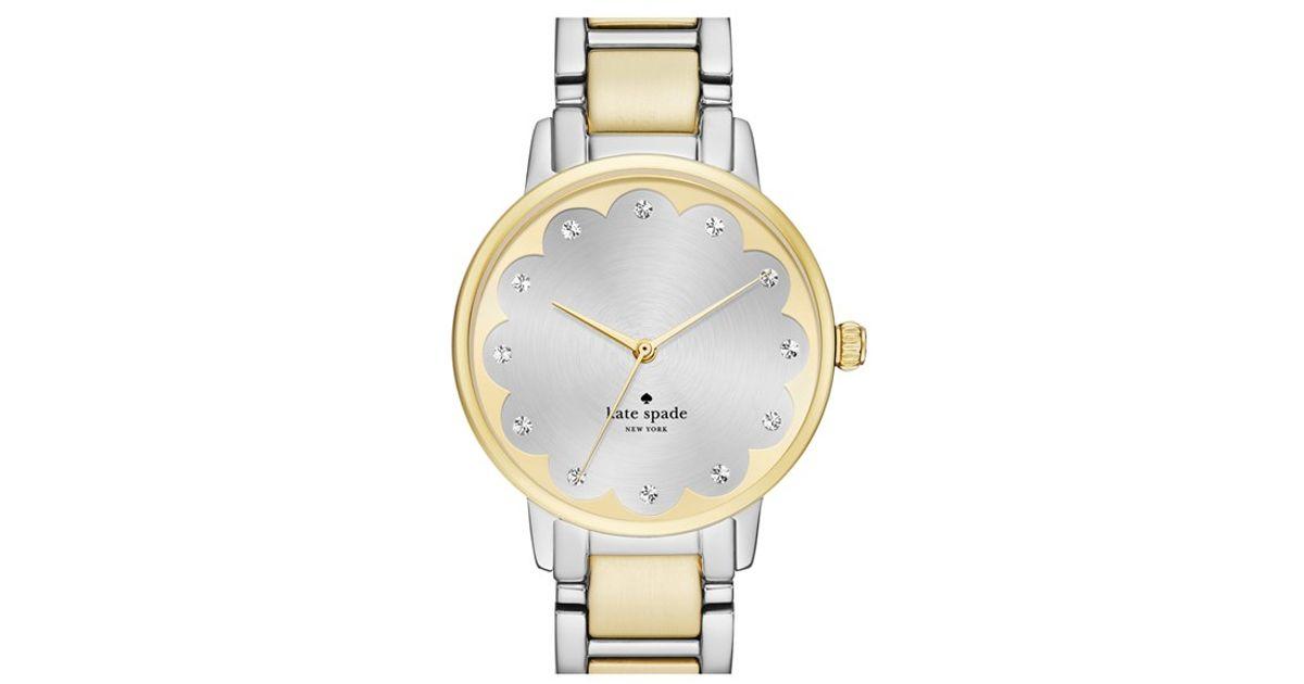 Kate Spade New York Metallic Gramercy Scalloped Dial Bracelet Watch