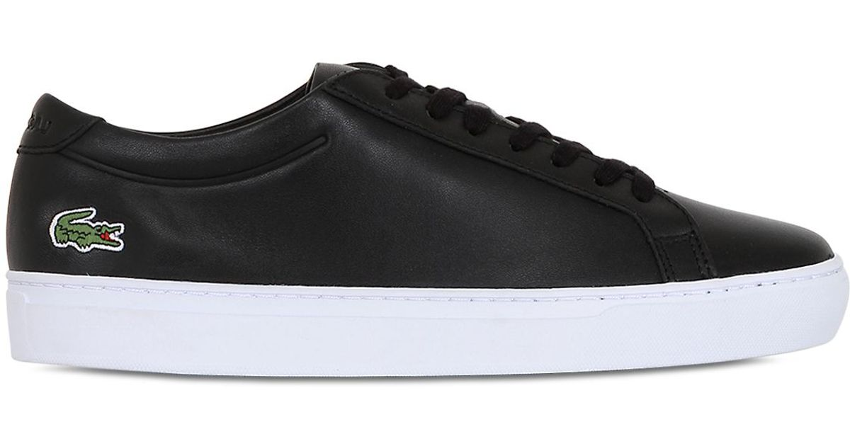6453d81c40a Lyst - Lacoste L.12.12 Leather Sneakers in Black for Men