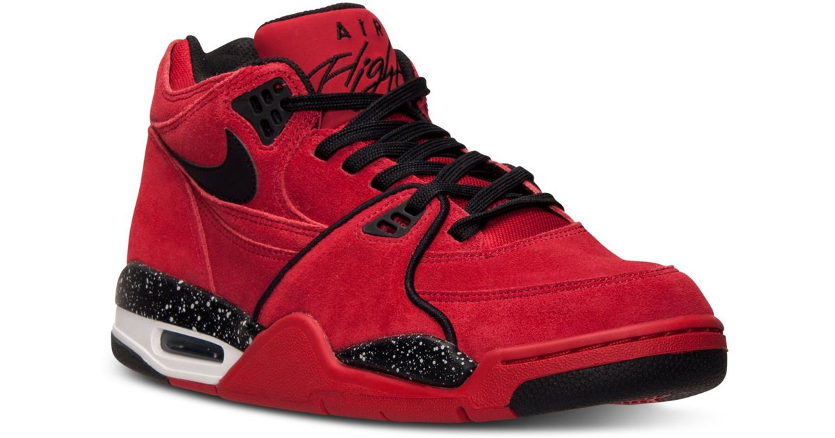 competitive price e2041 fc5fc ... Nike Mens Air Flight 89 Basketball Sneakers From Finish Line in Red for  Men   Lyst ...
