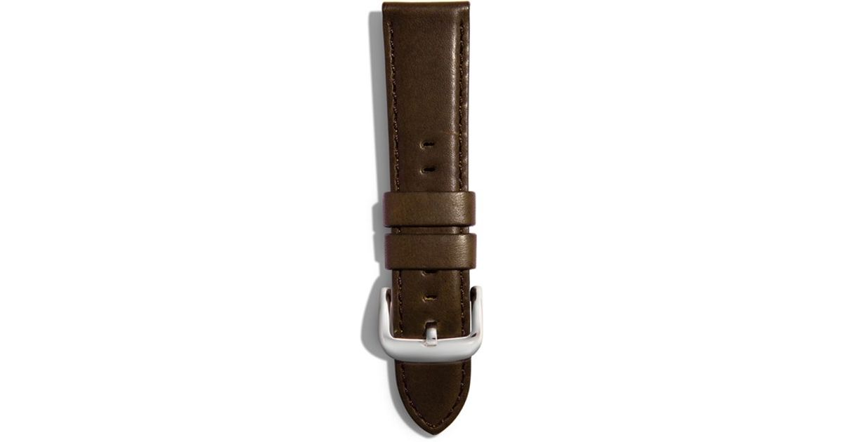 Shinola 20mm Latigo Leather Watch Strap In Brown Lyst