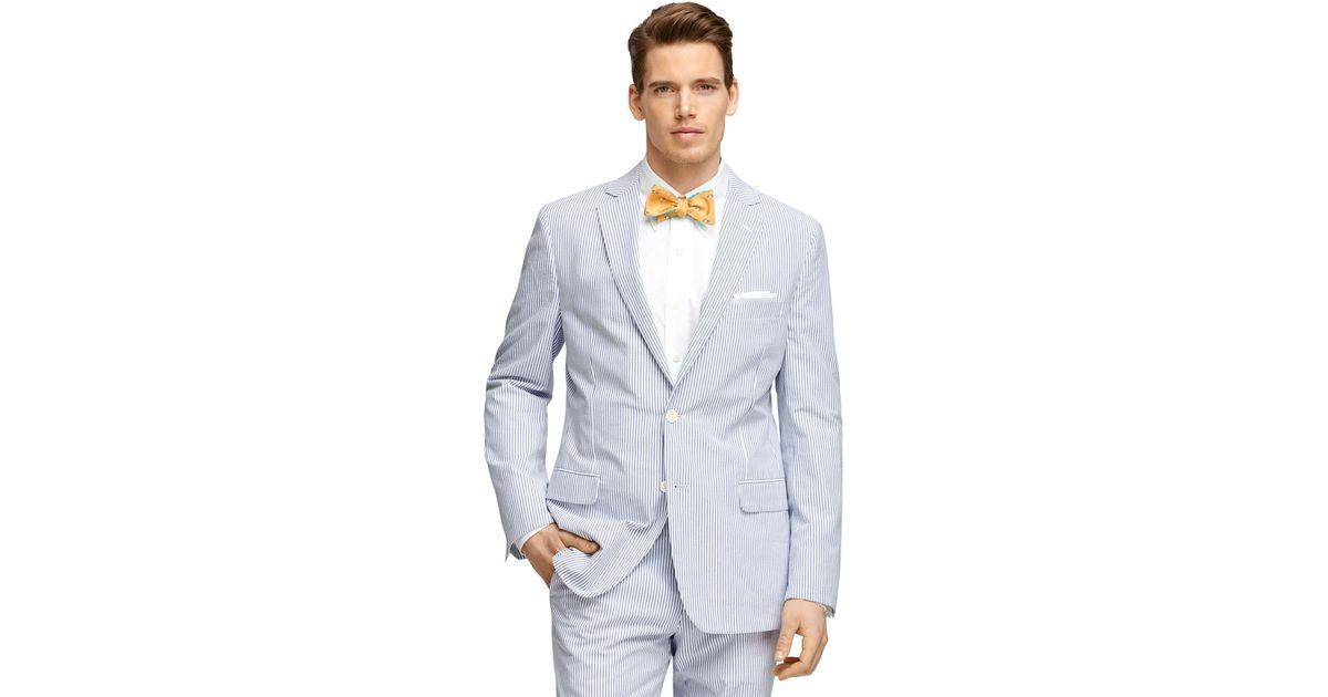 Lyst - Brooks brothers Fitzgerald Fit Seersucker Suit in ...