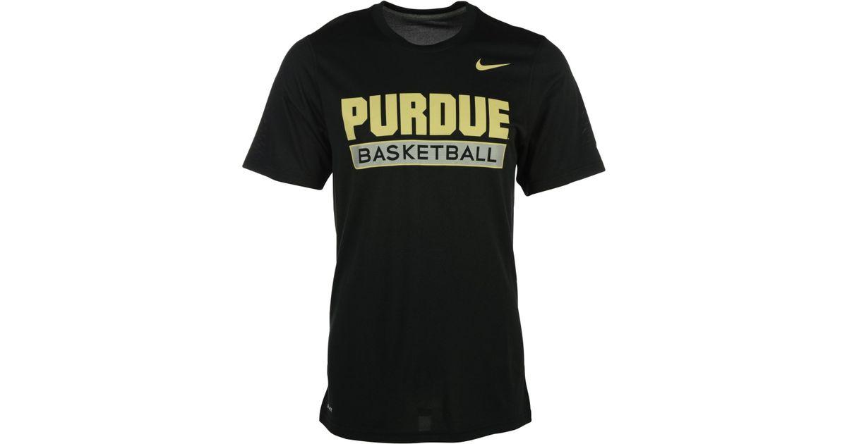 ed9a0691 Nike - Black Men's Purdue Boilermakers Elite Basketball Practice T-shirt  for Men - Lyst