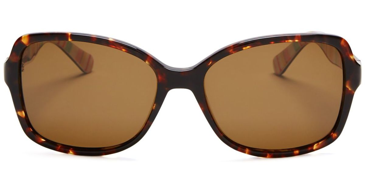 8a5dbc5b2de7 Kate Spade Polarized Ayleen Square Sunglasses, 56mm in Brown - Lyst