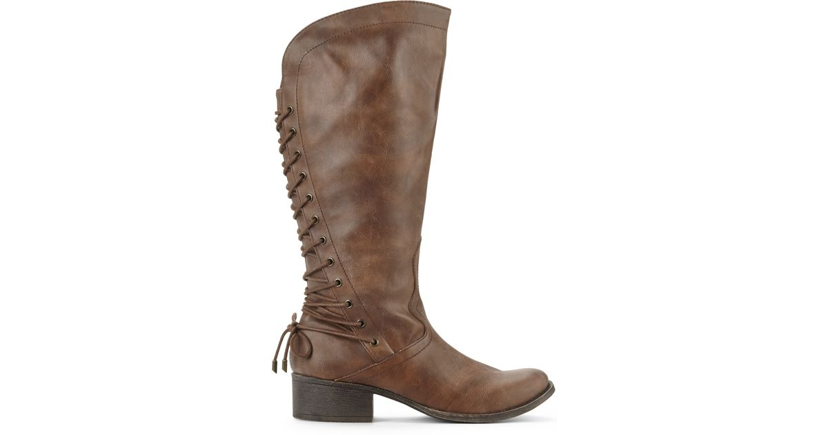 Madden Girl Shoes  Madden Girl Derail Womens Boots Cognac