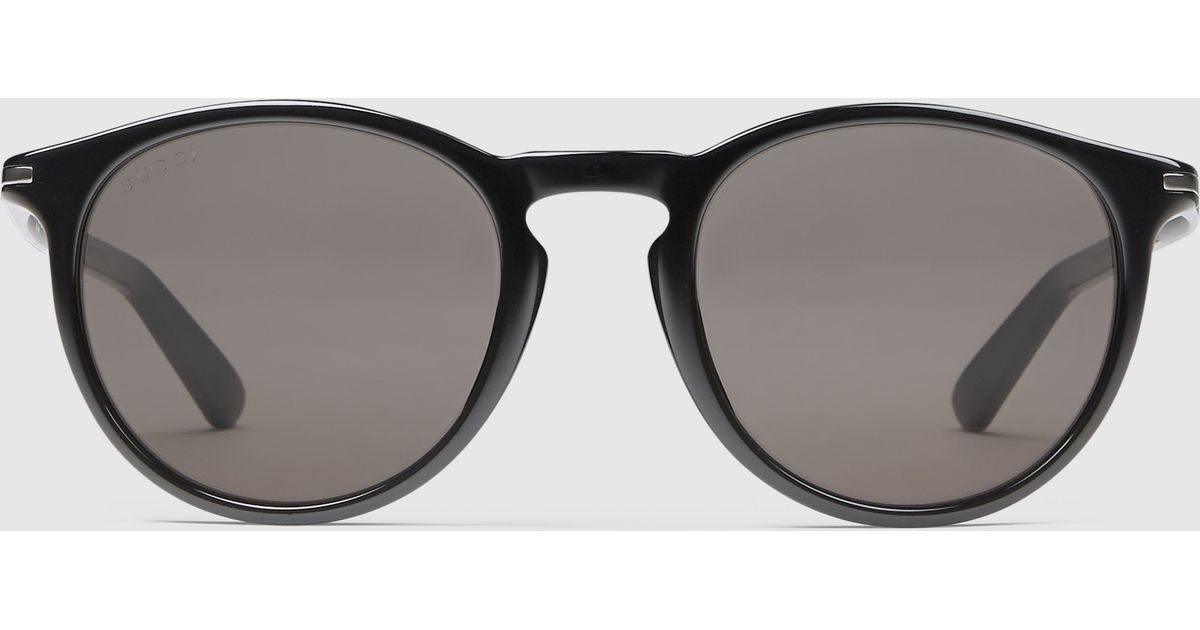 05c0c1867f Lyst - Gucci Round-frame Acetate And Metal Sunglasses in Black for Men