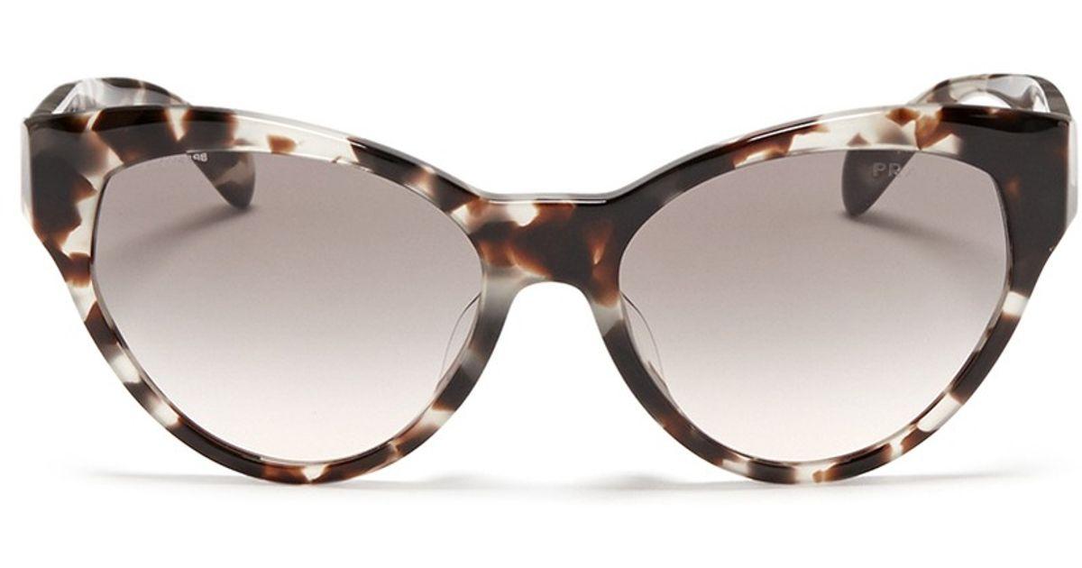 43497f511 ... authentic lyst prada tortoiseshell acetate cat eye sunglasses 6751c  33f88 ...
