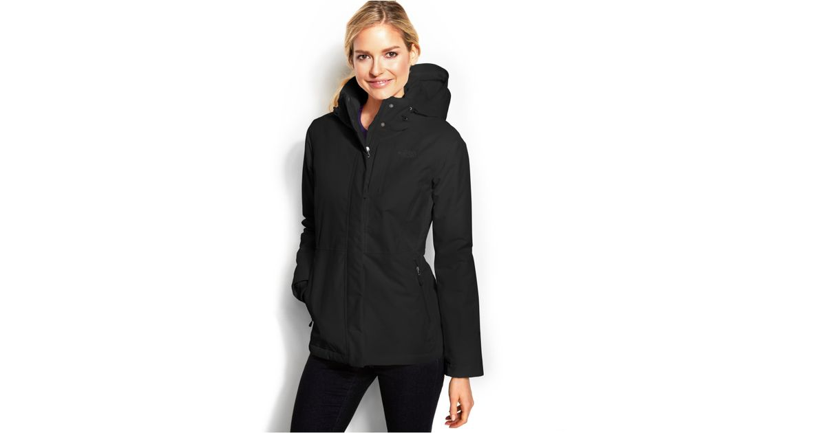 designer fashion new york classic shoes The North Face Black Inlux Insulated Hooded Jacket for men