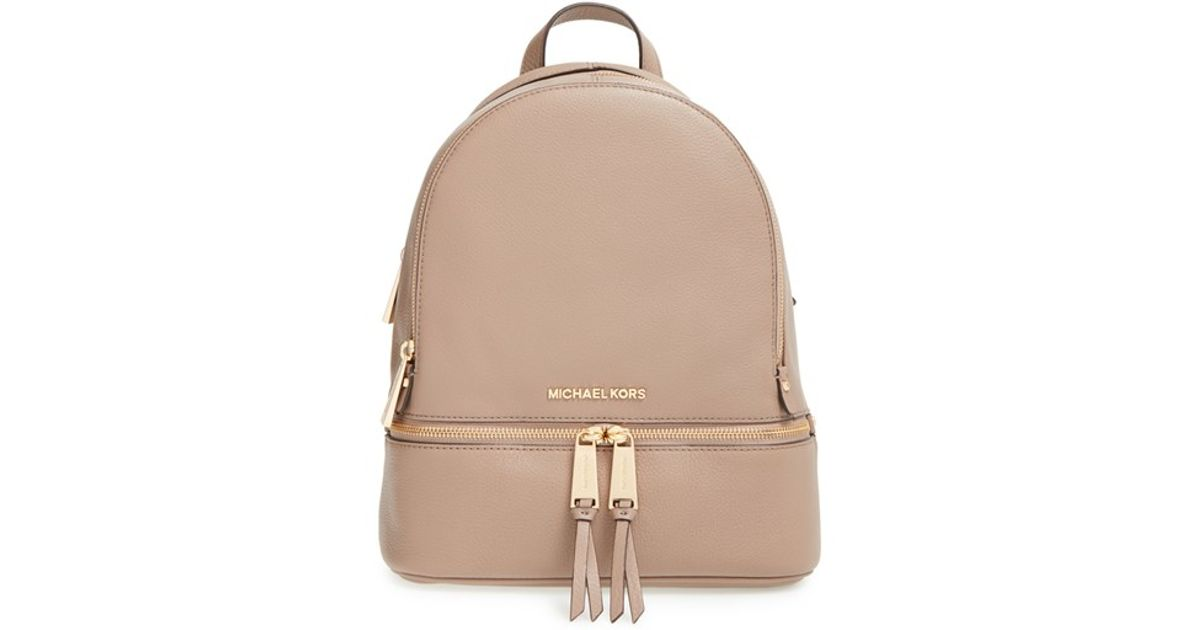 ceccce429b45 MICHAEL Michael Kors 'extra Small Rhea Zip' Leather Backpack in Pink - Lyst