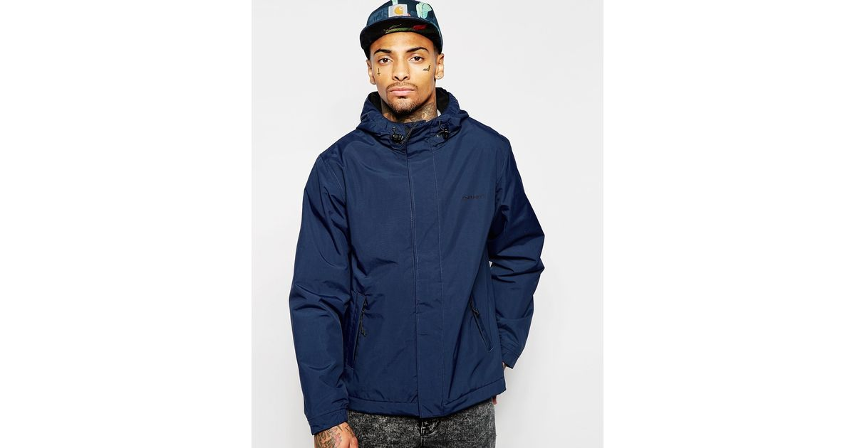 uk availability designer fashion for whole family Carhartt Blue Neil Jacket With Hood for men