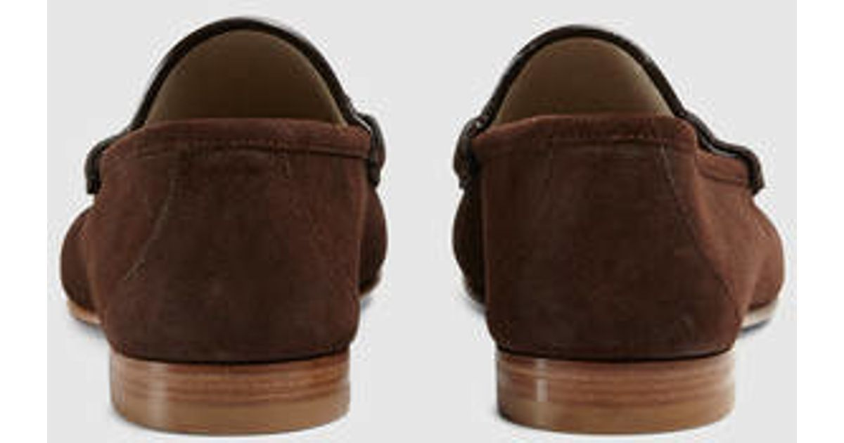 a0fd8a7d32c Lyst - Gucci 1953 Horsebit Suede Loafer in Brown for Men