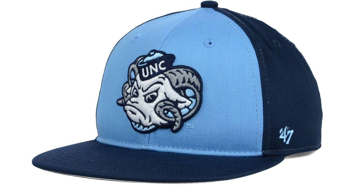 buy popular 05a59 14368 47 Brand Kids  North Carolina Tar Heels Snapback Cap in Blue - Lyst