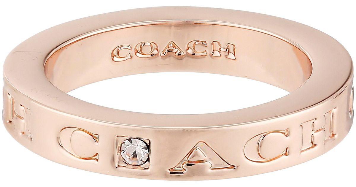 13f276272cf59 COACH Metallic Pave Metal Ring