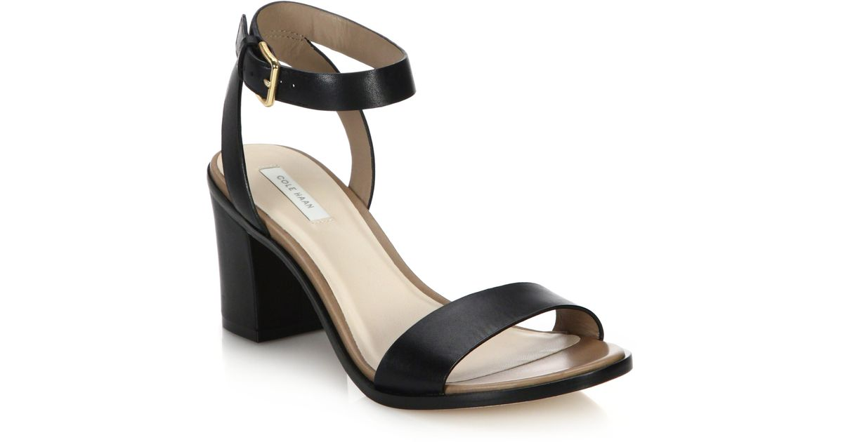 20f9bb53184 Lyst - Cole Haan Cambon Leather Open-toe Sandals in Black