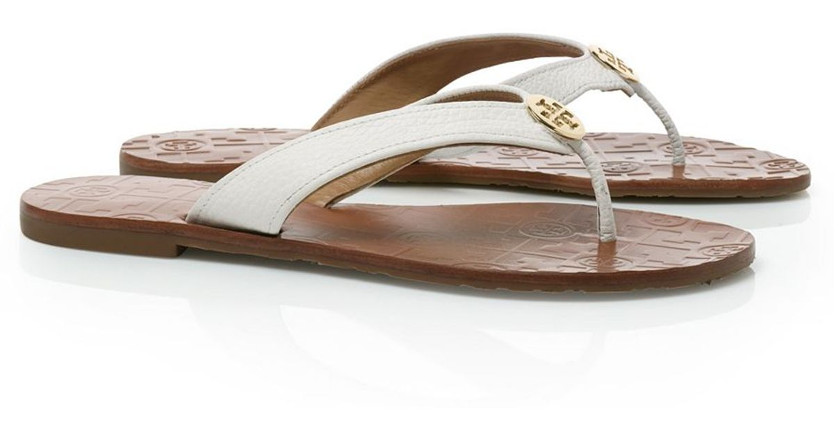 770b8682905a ... cheapest lyst tory burch thora thong sandal in metallic ad82d 6eefd