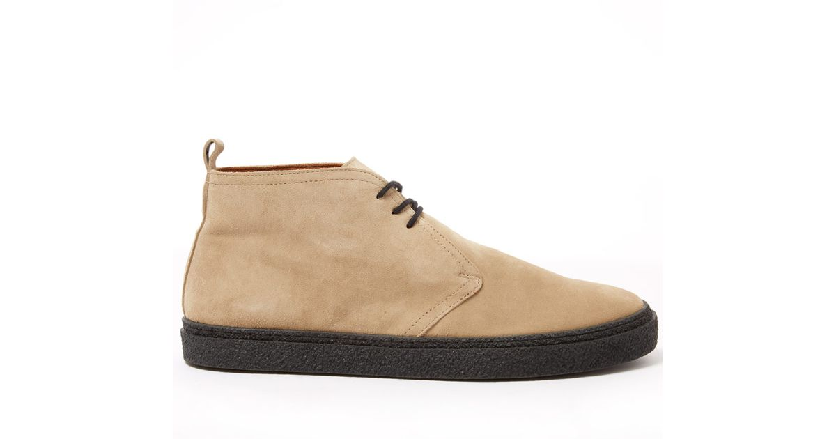 44817cf9824 Fred Perry Natural Hawley Suede Chukka Boots for men