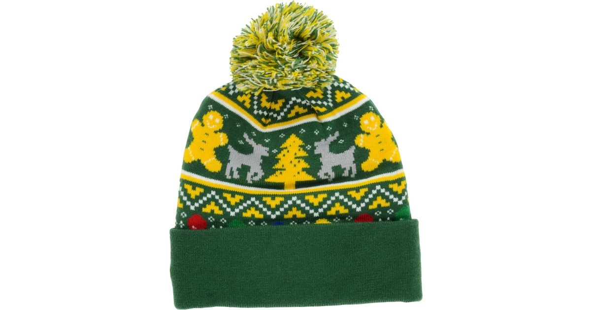 Lyst Ktz Green Bay Packers Christmas Sweater Pom Knit Hat For Men