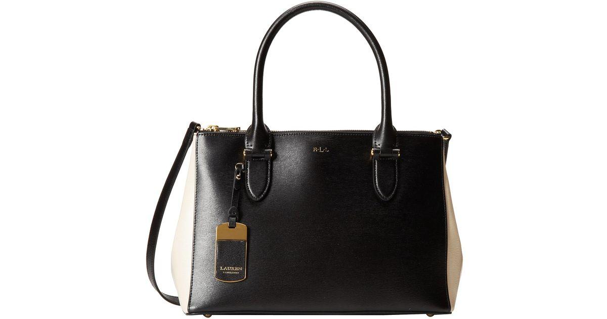 Bestbewertet authentisch großer Abverkauf akzeptabler Preis Lauren by Ralph Lauren Black Newbury Double Zip Shopper