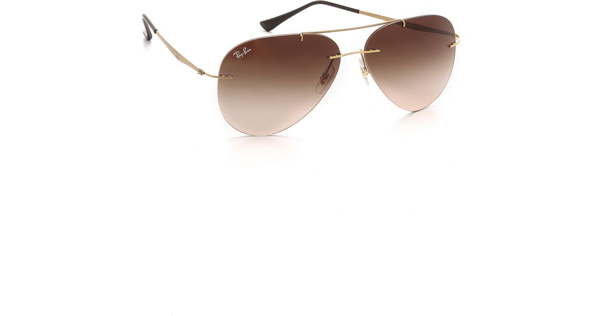 ff60267f40 ... denmark lyst ray ban light tech aviator sunglasses in metallic for men  677d5 c0080