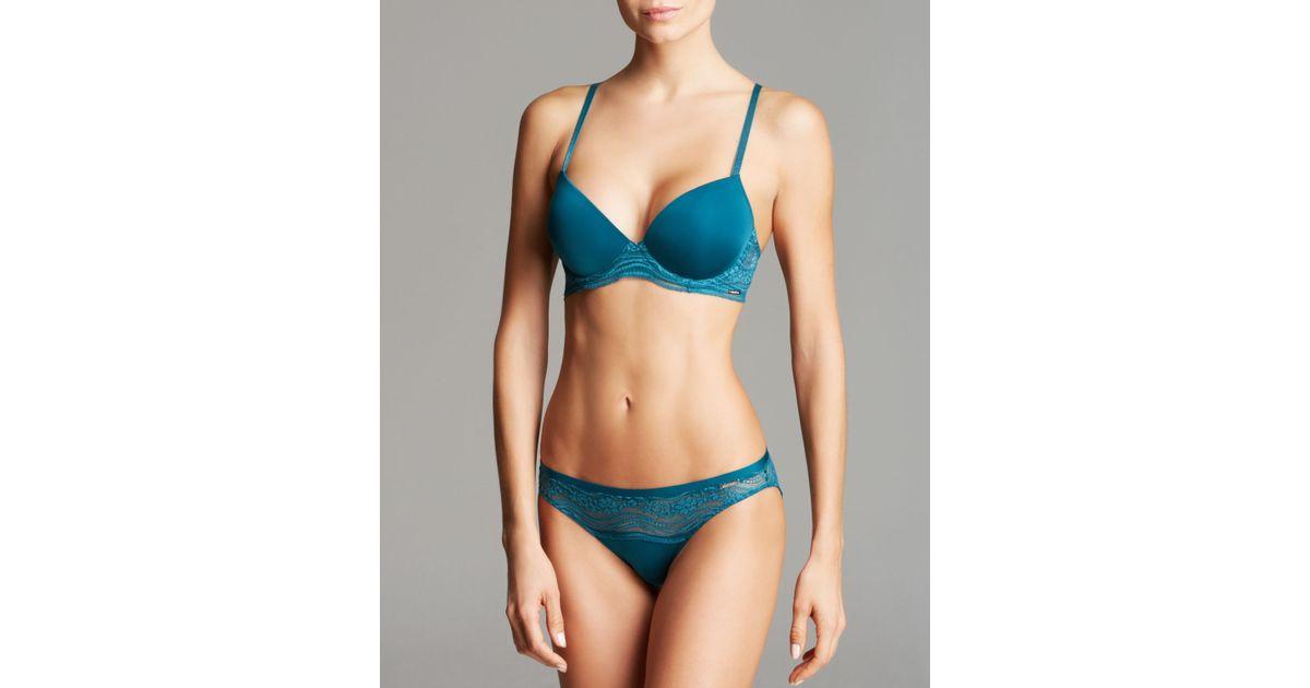 9e10217b47 Calvin Klein - Blue Bra - Infinite Lace Customized Lift  F3895 - Lyst