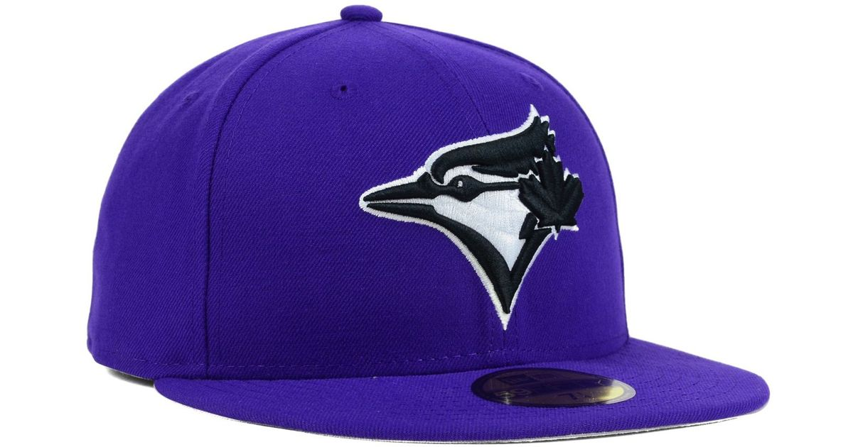 a085eee8253 Lyst - KTZ Toronto Blue Jays C-dub 59fifty Cap in Purple for Men
