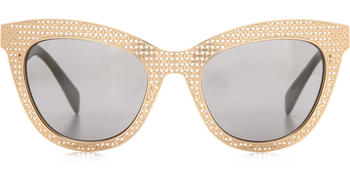 09f77a3432db Marc By Marc Jacobs Perforated Metal Mirrored Sunglasses - Black/Blue Mirror  in Metallic - Lyst