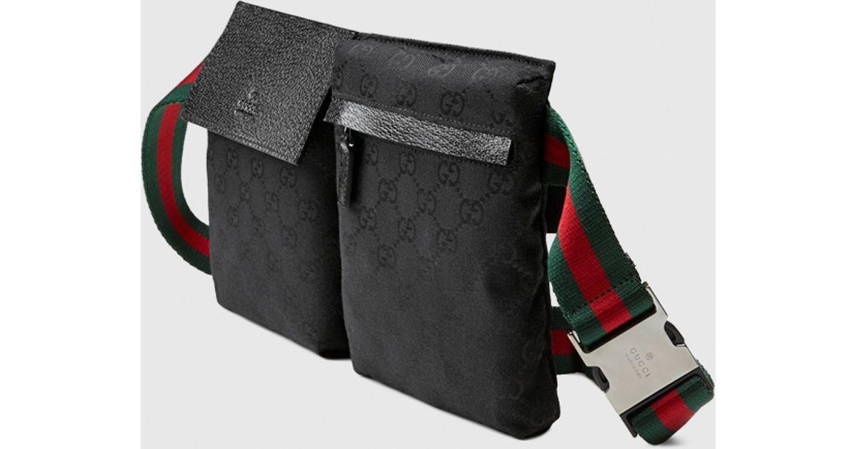228011667da Gucci Black Original Gg Canvas Belt Bag for men