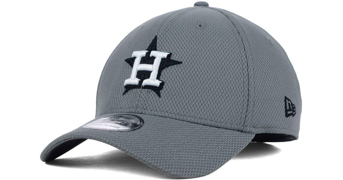 Lyst - KTZ Houston Astros Diamond Era Gray Black White 39thirty Cap in Gray  for Men 09dc49a5aa