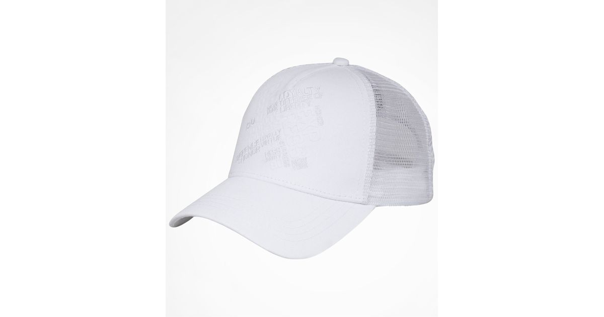 7940a2ceb77 Lyst - Express Curved Bill Trucker Hat in White for Men