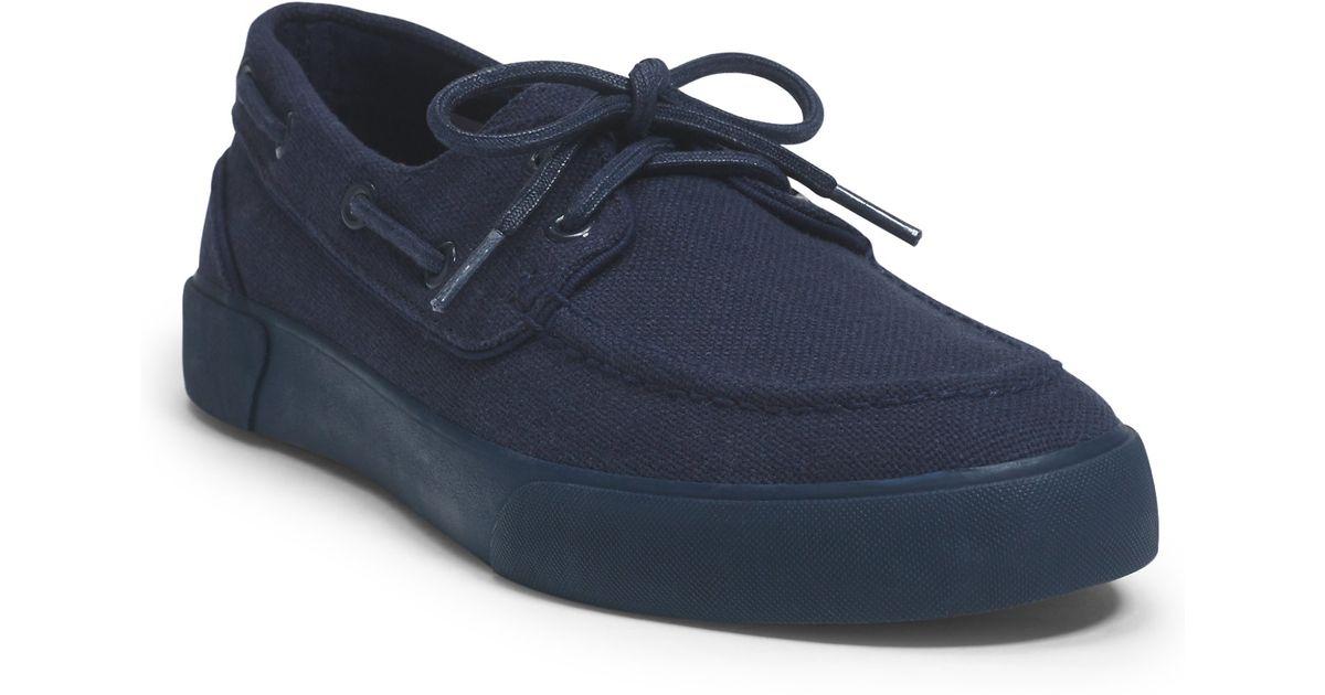 polo ralph lauren lander canvas sneaker in blue for men lyst. Black Bedroom Furniture Sets. Home Design Ideas