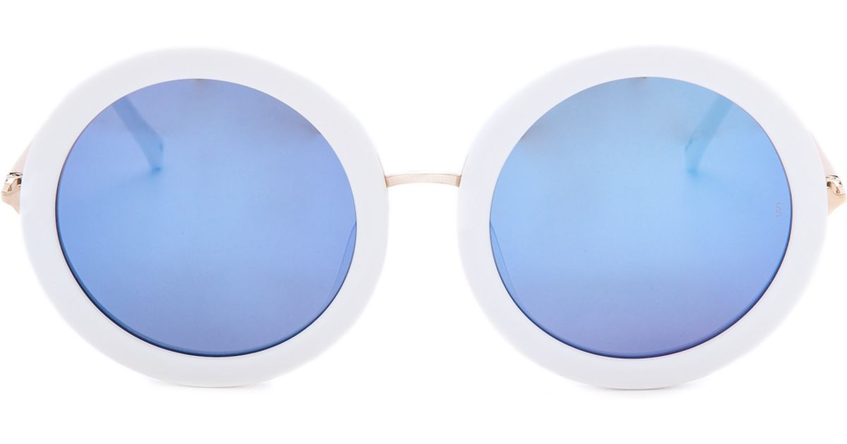 2d882fca23b0 Sunday Somewhere Isabella Sunglasses - White in White - Lyst