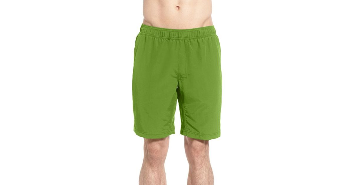 lyst the north face 39 pull on guide 39 swim trunks in green. Black Bedroom Furniture Sets. Home Design Ideas