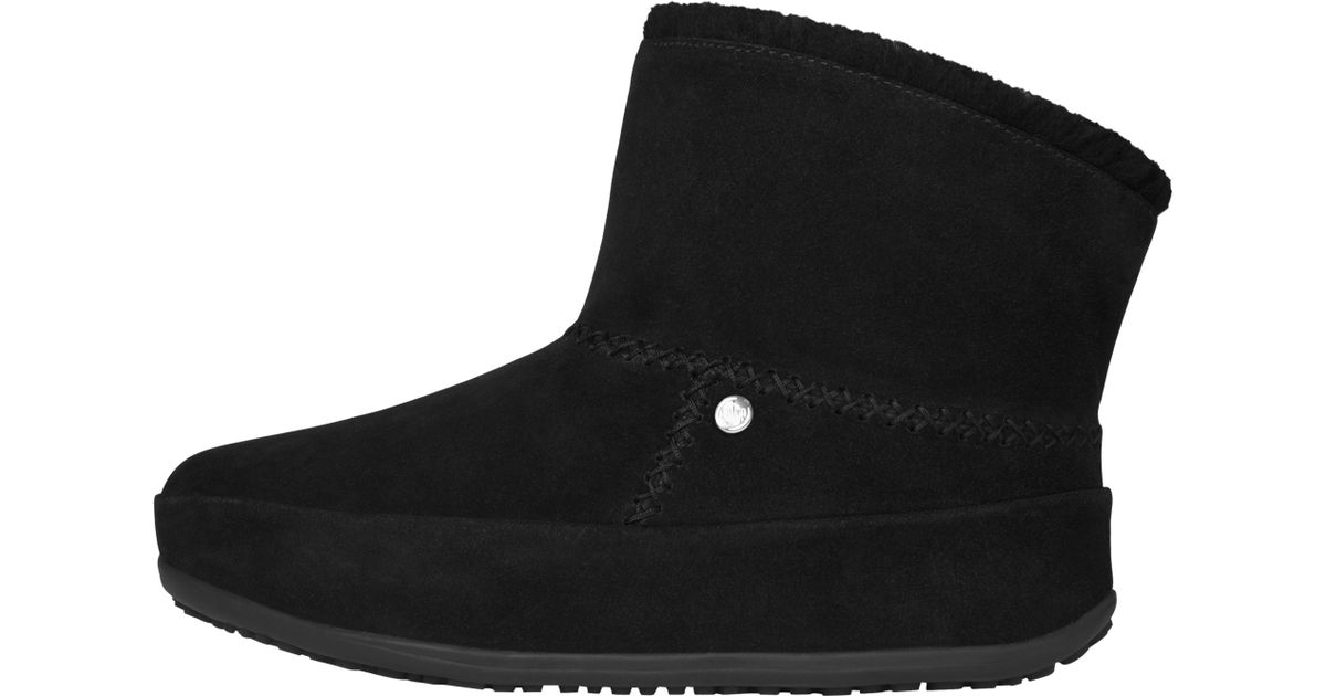 d478ec7395b07d Fitflop Mukluk Suede Shorty Ankle Boots in Black - Lyst