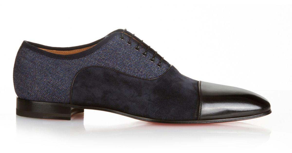 a81f52cd45f Christian Louboutin Blue Greggo Tri-Panel Oxford Shoes for men