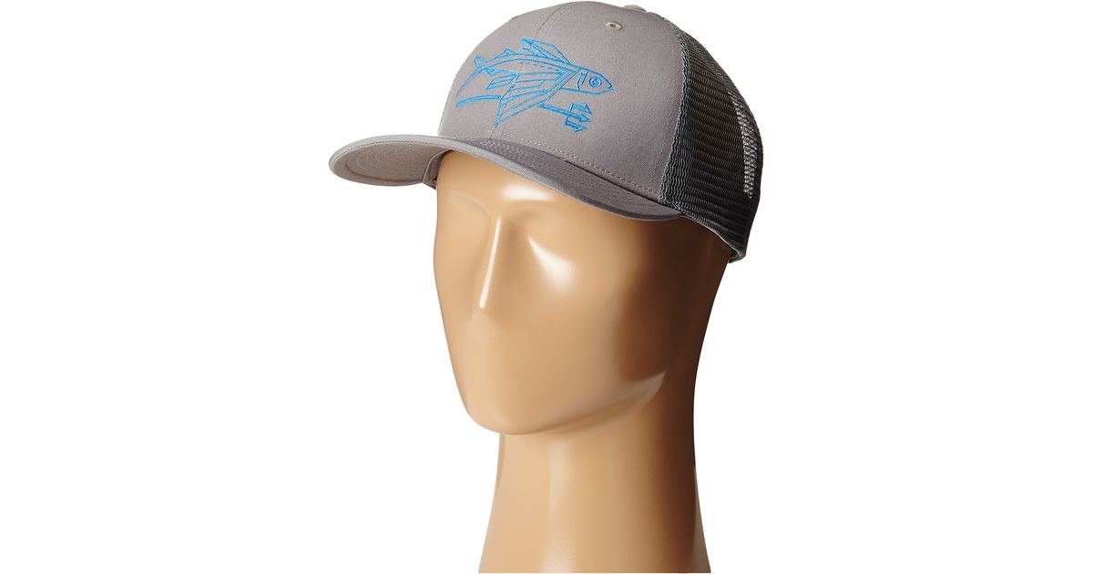 Lyst - Patagonia Geodesic Flying Fish Trucker Hat in Gray for Men 29fc5e49d79