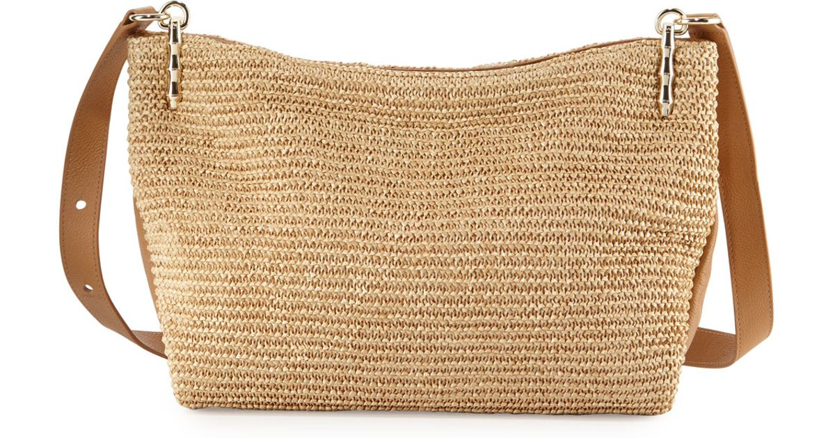 b43ed10f73 Elaine Turner Natural Bianca Raffia Crossbody Bag