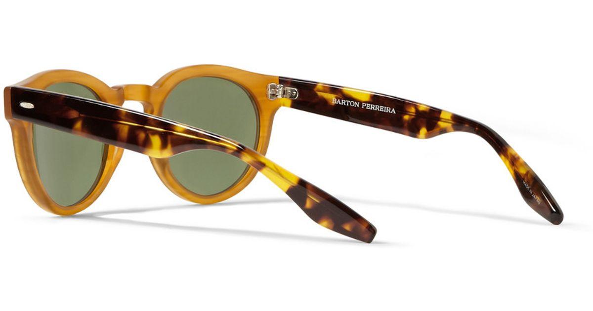 Lyst - Barton Perreira Dillinger Dframe Acetate Sunglasses in Yellow ...