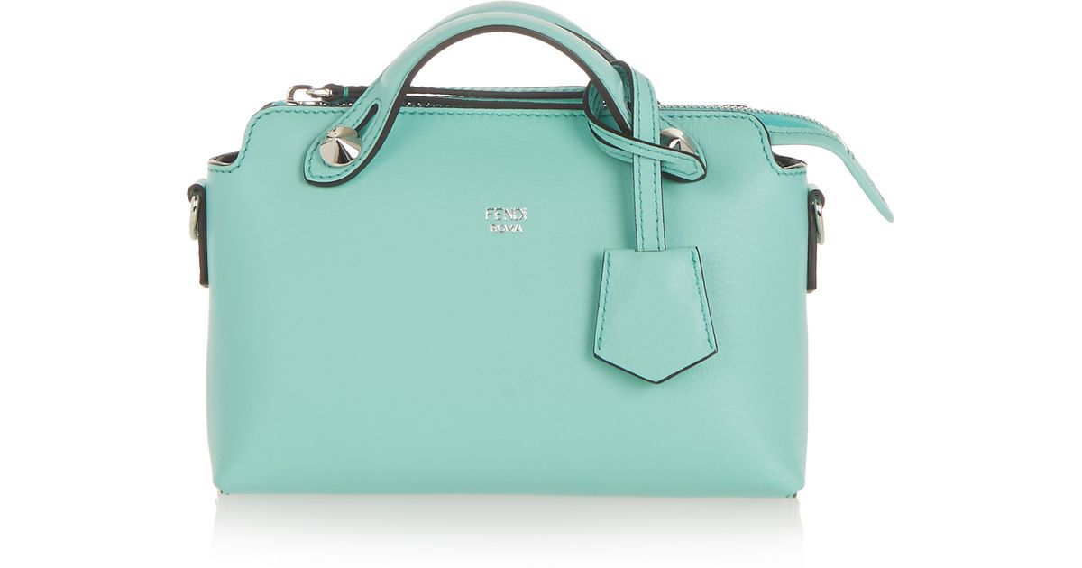 bafd6d2585 Fendi By The Way Mini Leather Shoulder Bag in Green - Lyst
