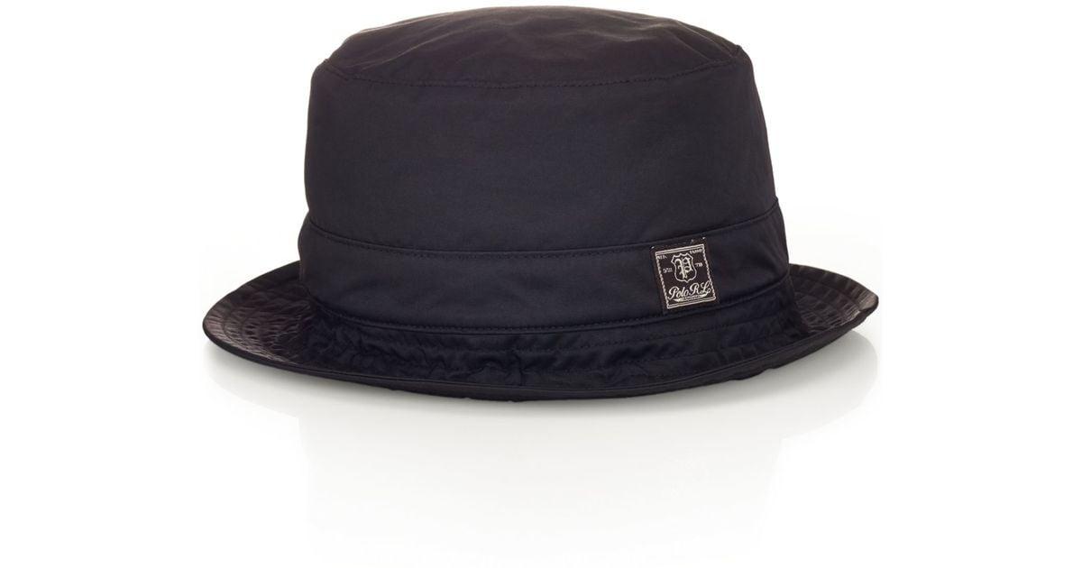 7d3648bea7a Lyst Polo Ralph Lauren Twill Bucket Hat In Black For Men